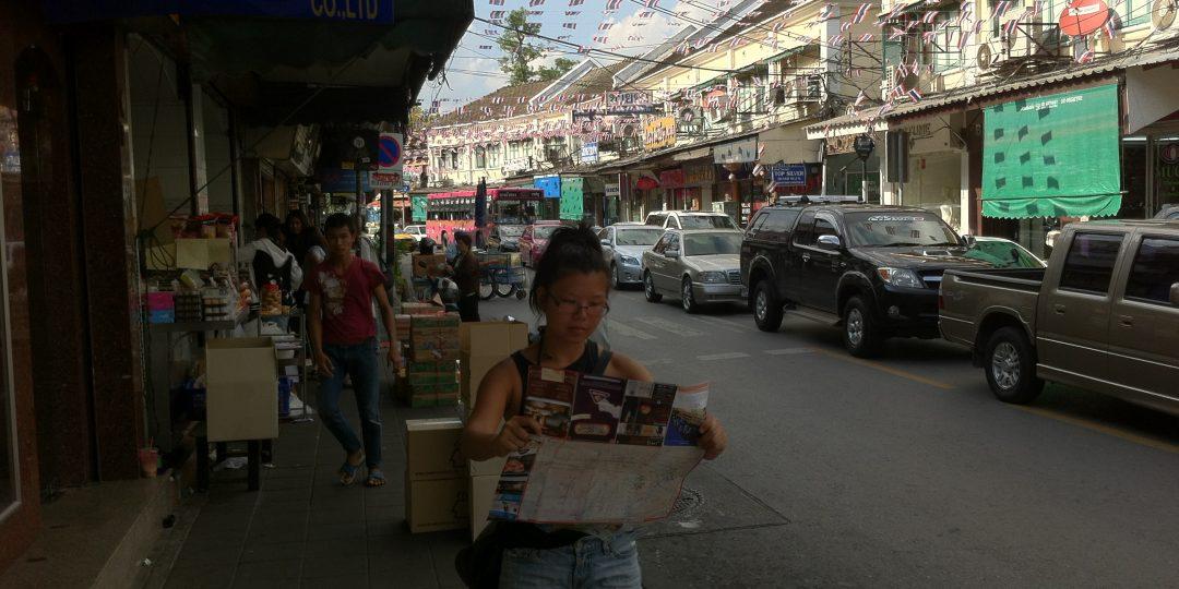 Map reading near Khaosan Road