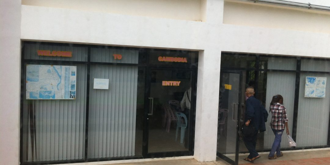 Visa scam office Thai - Cambodian border