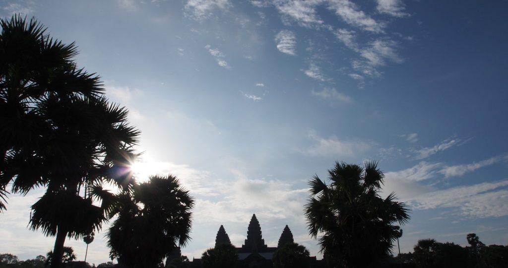 Big uncle Wat, Angkor Wat - backlit