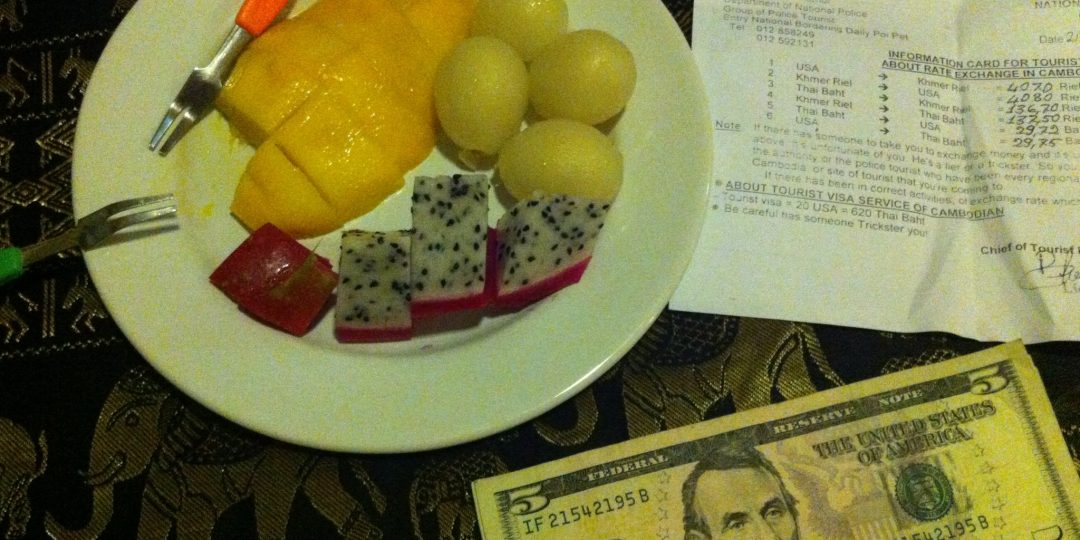 Fruit, US dollars and a nice warning slip