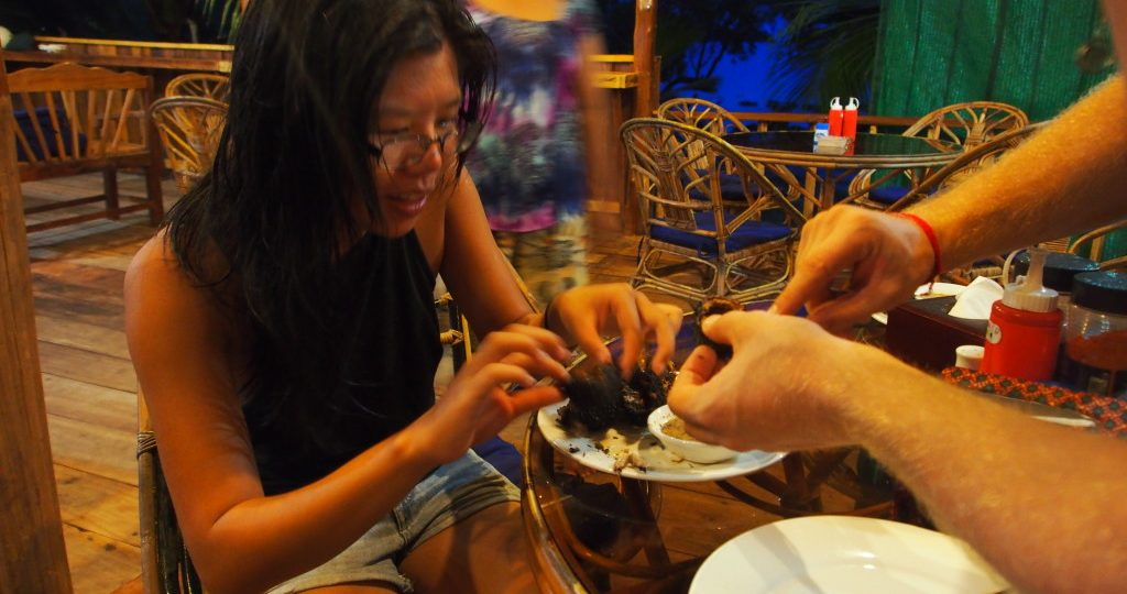 Trying out the Sea Urchins