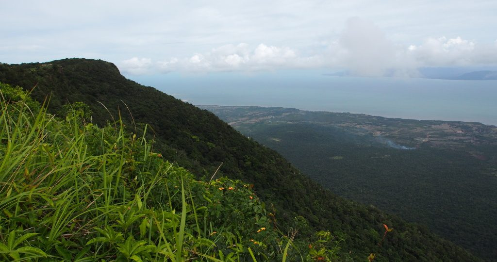 The view from the back of Bokor Hill Station