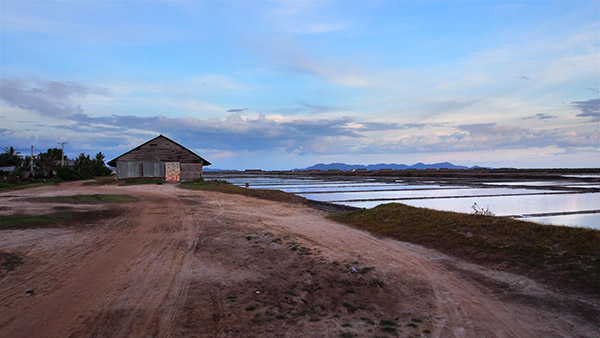 Salt Fields Outside Kampot Cambodia