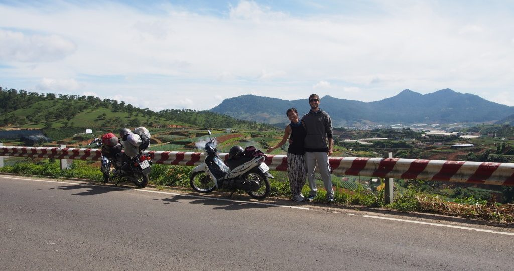 On the road with our bikes