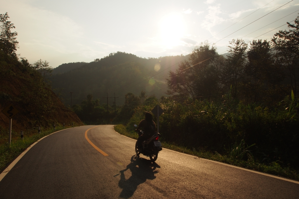 Evening sun near Mae Hong Son