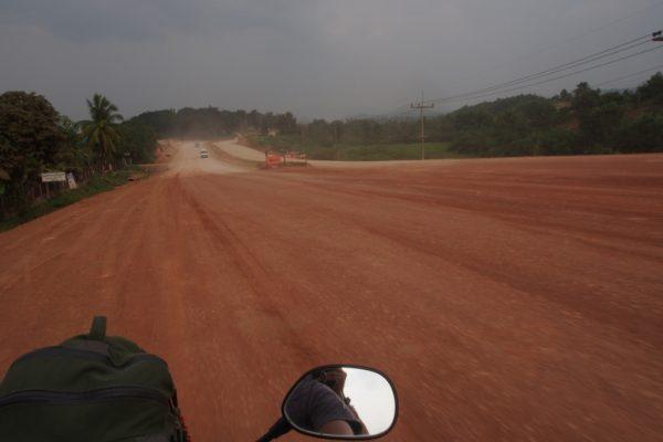 Road construction between Sop Ruak and Chiang Khong