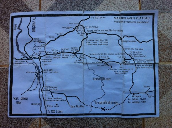Motorbike loop around Pakse - we took the difficult road from Beng Phoukham to Paksong....