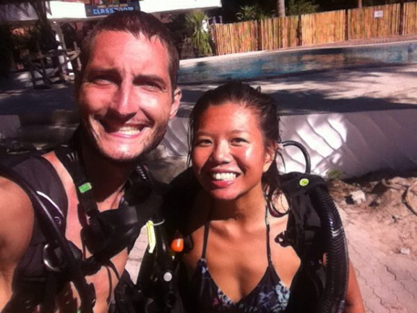 Post-dive, post-engagement!