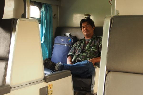 We met this guy on the train from Bangkok to Vientiane. He had some amazing stories and crazy experiences he shared with us.