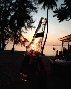 A beer on the beach, Thailand