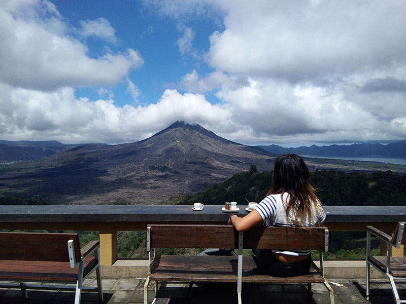Best place to have a coffee at Mount Batur Bali